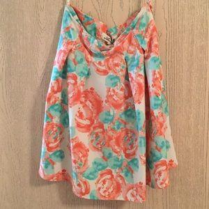 Francesca's High-Waisted Floral Skirt